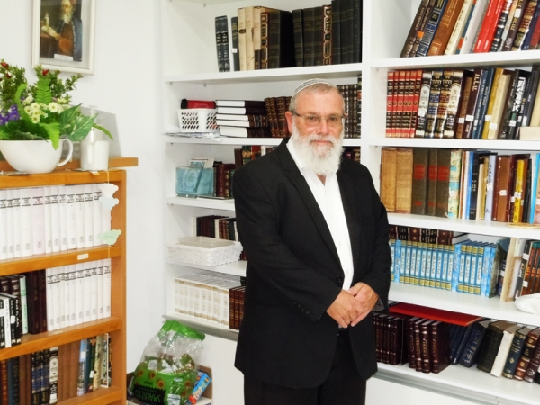 "Rabbiner Jehoshua Helman in the new ""Beth Midrasch"""